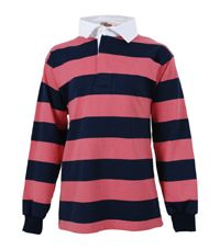 RGY-06-CTN - Rugby shirt - Navy/pale pink