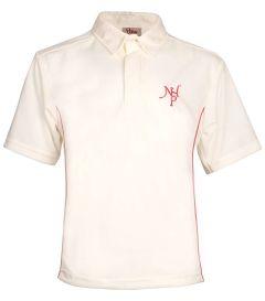PLO-27-NHP - NHP Cricket Shirt - Off white/logo