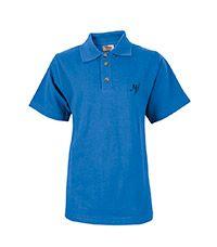 TSH-67-NHP - NHP Senior s/s polo shirt - Blue/logo