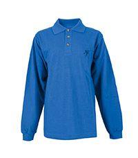 TSH-64-NHP - NHP Senior l/s polo shirt - Blue/logo