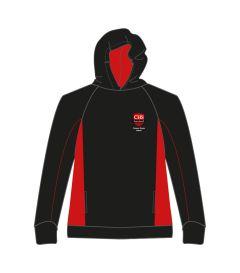 HDY-21-CMN - Hoody - Black/red/logo