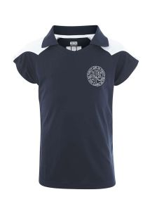 PLO-37-DAN - Daneshill Girls Polo Shirt - Navy/Red/White/Logo