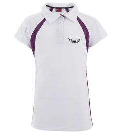 PLO-37-SCP - St Clare's Girls polo - Royal/white/black/lo