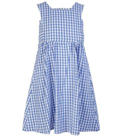 PIN-25-PCT - Summer Pinafore - Blue/white