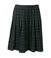 SKT-81-PVI - Stitched down pleated skirt - Black