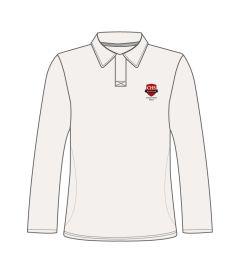 PLS-23-CMN - Long sleeve cricket shirt - Off white/logo