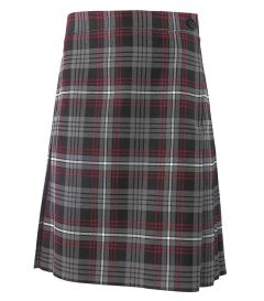 SKT-42-PVI - Pleated skirt with zip - Red/royal/navy