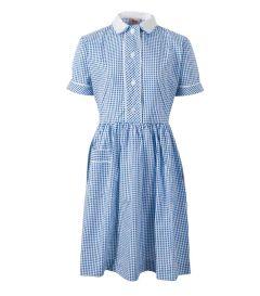 DRE-64-PCT - Summer dress - Royal/white