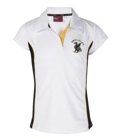 PLO-37-POL - Fitted games polo shirt - White/red/navy