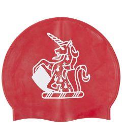 HAT-15-TOM - TOM House swimcap - Red/logo