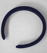TPP-45-BND - Velvet alice hair band - Navy - One