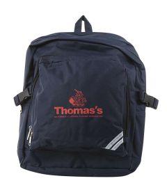 BAG-86-TOM - Upper school rucksack - Navy/red/logo - One