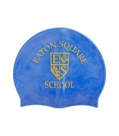 HAT-47-ESS - ESS Squad swim cap - Royal/logo