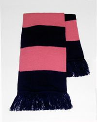 SCF-18-NHP - Notting Hill Scarf - Navy/pink - One