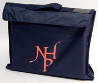 BAG-14-NHP - Notting Hill book bag - Navy/pink logo - One