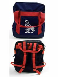BAG-16-FKH - Falkner House rucksack - Navy/red/logo - One