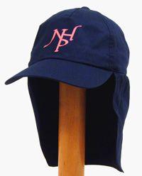 HAT-22-NHP - NHP legionnaire sun hat - Navy/pink logo - One